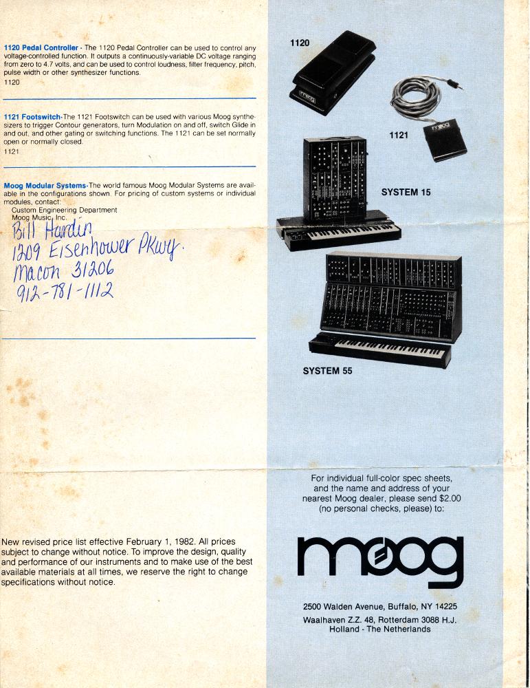 Moog 1982 Product Catalog